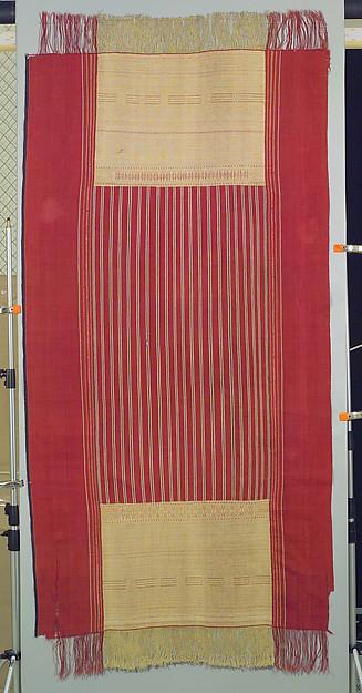 Ceremonial Textile (Ulos Ragidup), Cotton, Toba Batak people