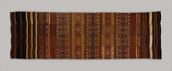 Interior Hanging (arkilla kunta), Wool, cotton, natural dye, Fulani peoples