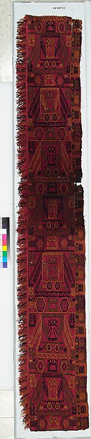Embroidered Border Fragment, Camelid hair, Paracas