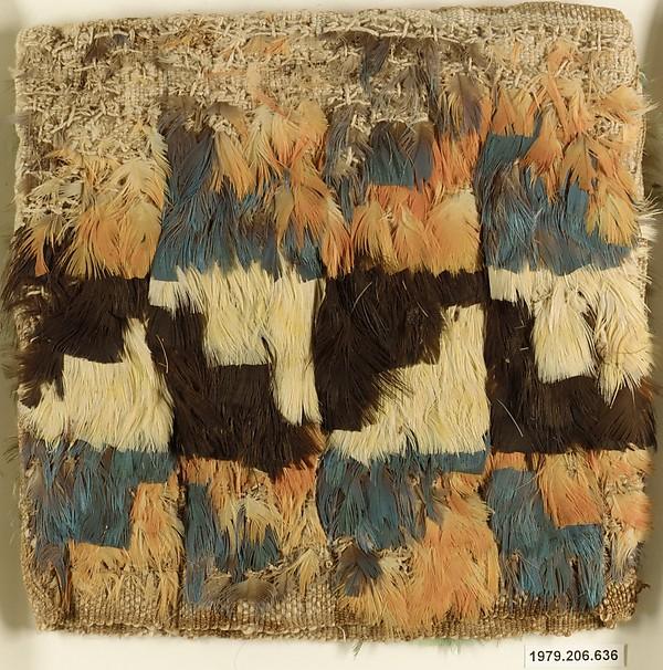 Miniature Dress, Cotton, feathers, Ica