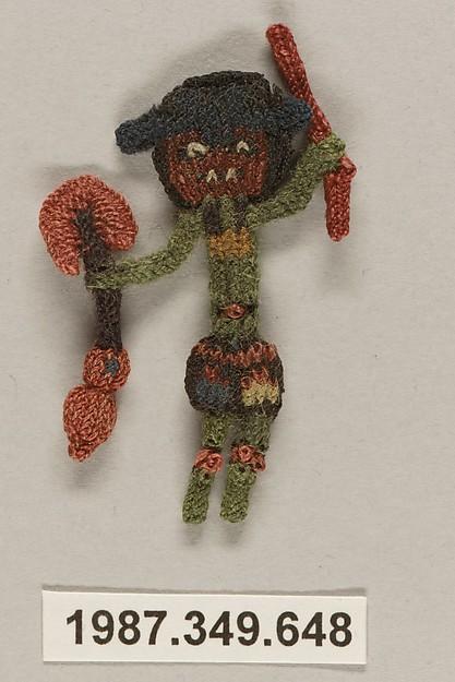 Border Fragment, Figure, Camelid hair, Nasca