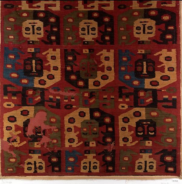Panel, Cotton, camelid hair, Wari