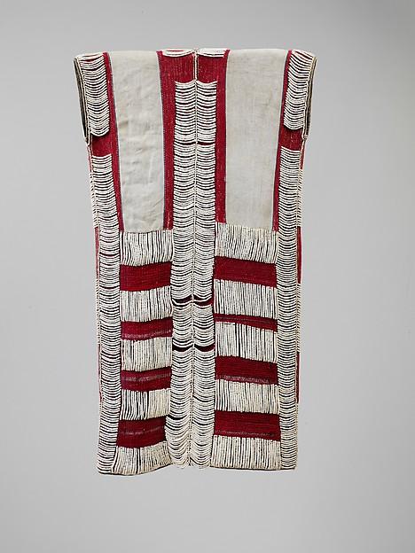 Man's Jacket, Bast fiber, trade wool, shell, Atayal
