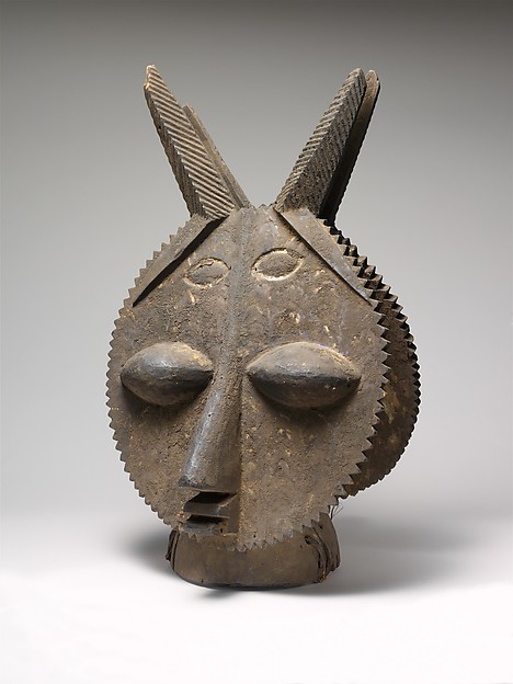 Headdress: Janus, Wood, pigment, Yoruba peoples, Ijebu group