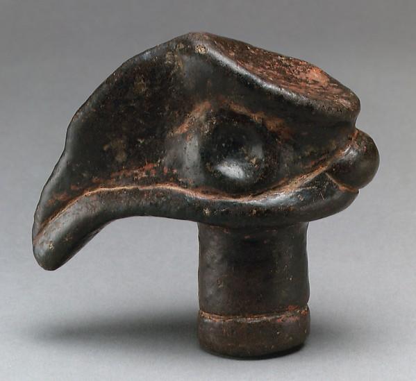 Bird Head, Stone, pigment, Morobe province