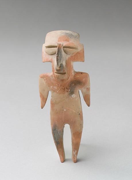 Standing Figure, Ceramic, Esteros or Bahía