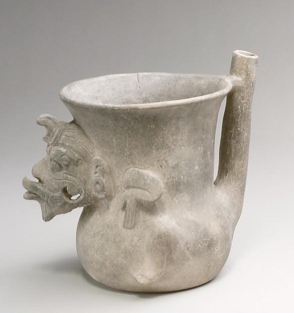 Spouted jar, Ceramic, Monte Alban
