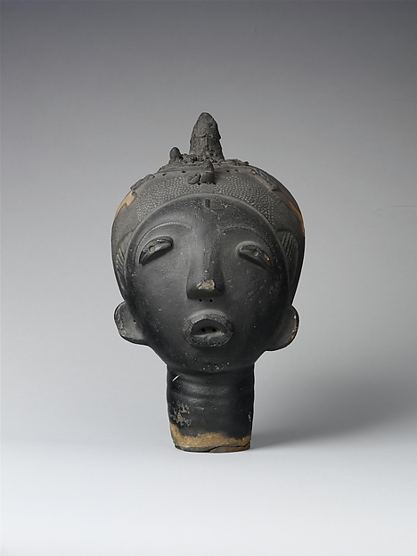 Memorial Head (Ntiri), Terracotta, Akan peoples