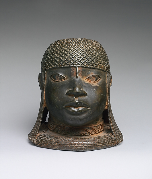 Head of an Oba, Brass, Edo peoples