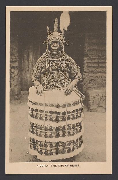The oba of Benin [Eweka II, r. 1914-33], Postcard