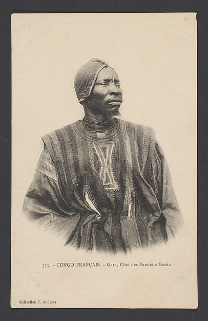Gara, chief of the Pande, Postcard