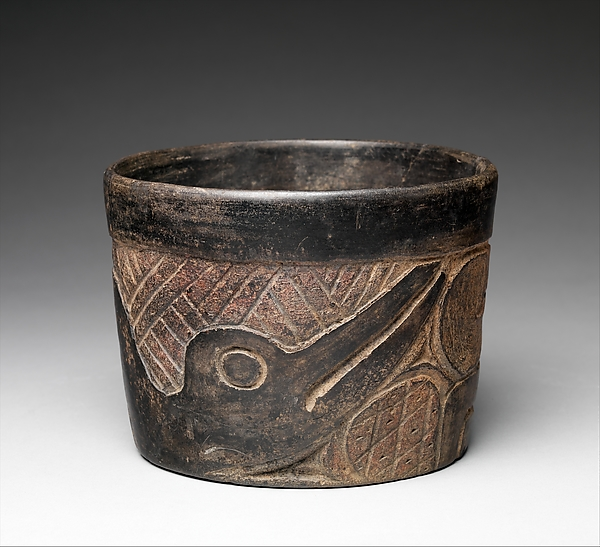 Relief-Carved Bowl, Ceramic, Olmec