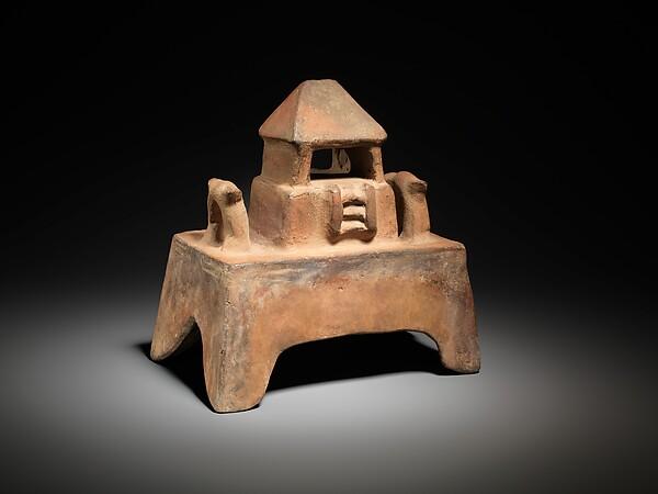 Temple Model, Ceramic, Colima
