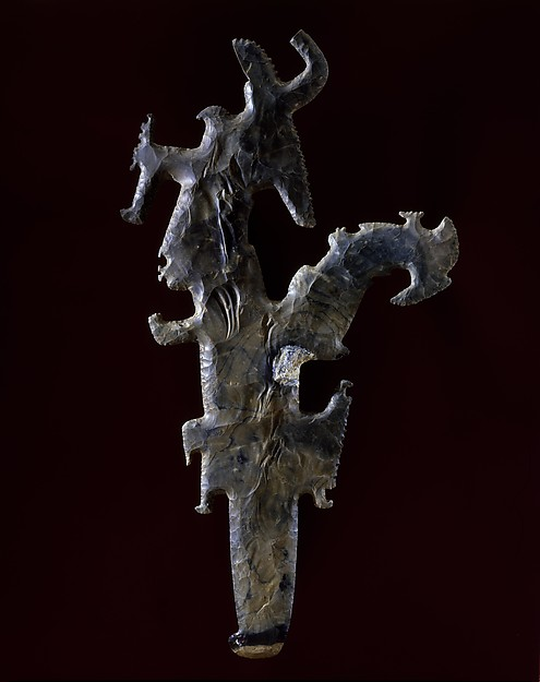 Scepter with Profile Figures, Flint, Maya