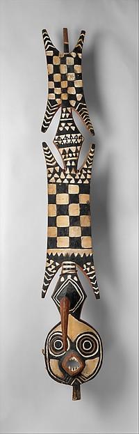 Plank Mask (Nwantantay), Wood, pigment, fiber, Bwa peoples