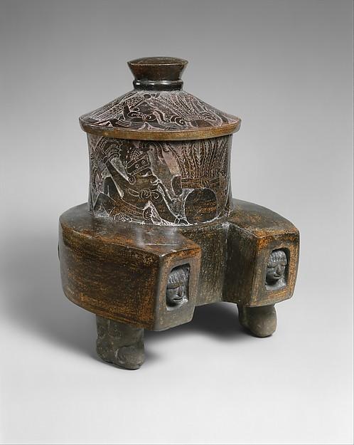 Yoke-Form Vessel, Ceramic, Maya
