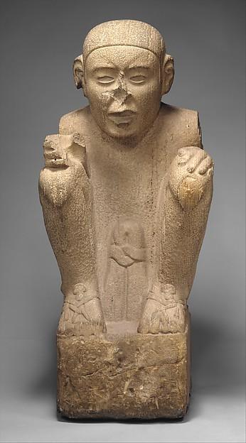Standard Bearer, Sandstone, laminated, Aztec