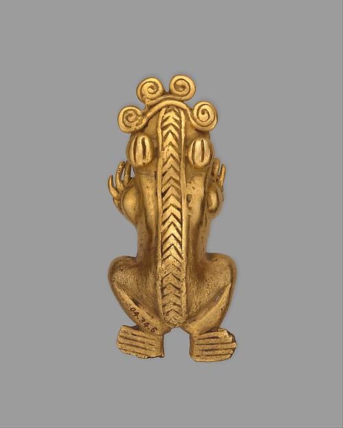 Frog Pendant, Gold (cast), Chiriqui (?)