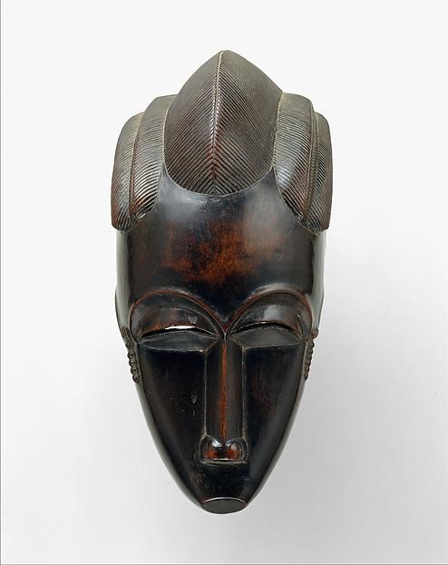 Portrait Mask (Gba gba), Wood, Baule peoples