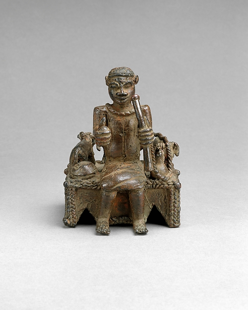Figure: Oba with Sacrificial Animals from the Ezomo's Altar of the Hand, Brass, Edo peoples