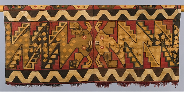 Tunic with Confronting Mythical Serpents, Camelid hair, Nasca-Wari