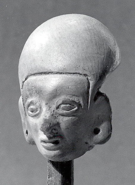 Head, from a Figure, Ceramic, Tolita-Tumaco