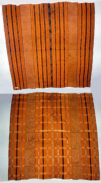 Woman's Ceremonial Skirt (Tapis), Cotton, gold wrapped thread, mica, Lampung