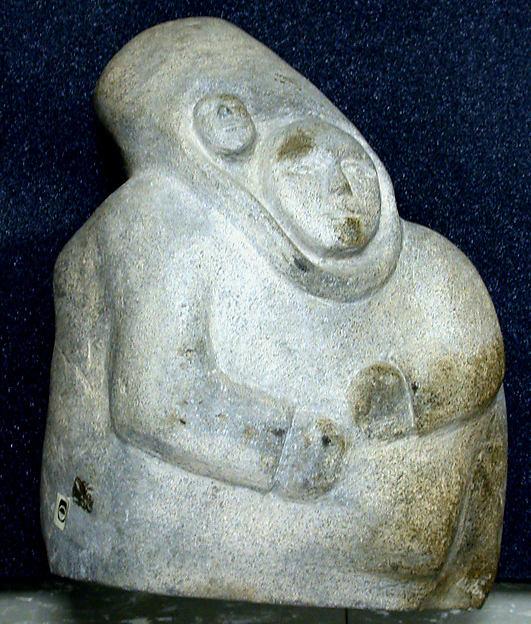 Female Figure, Pudlat, Stone, Inuit