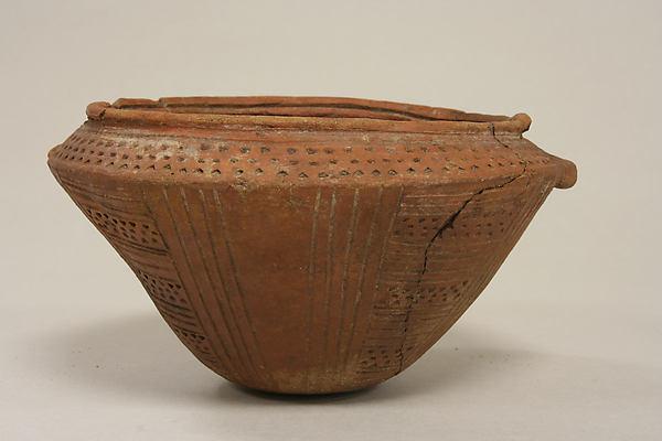 Bowl with Stippled Patterns, Ceramic, Quimbaya