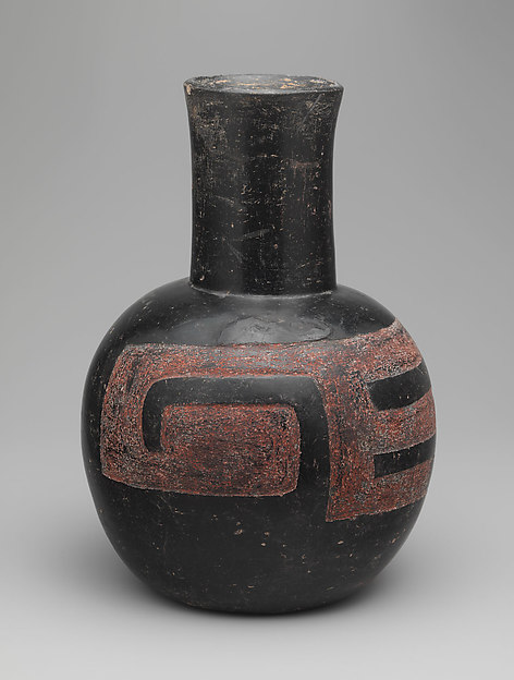 Bottle, Ceramic, pigment, Olmec
