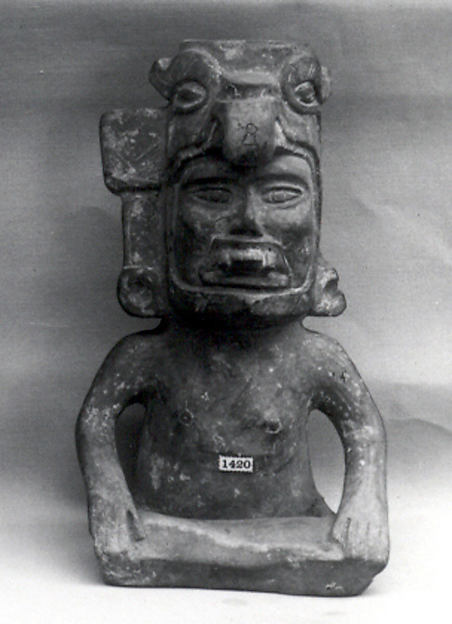 Figure Vessel, Ceramic, Monte Alban