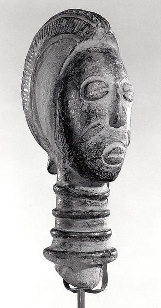 Female Head, Terracotta, Baule peoples