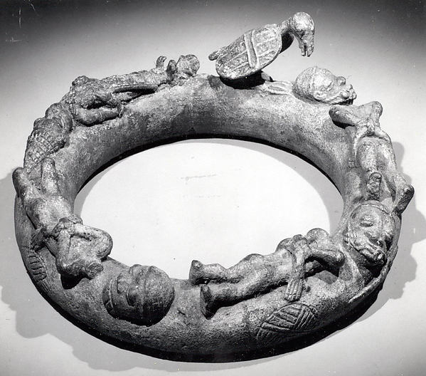 Altar Ring, Brass or copper alloy, Yoruba peoples, Ife group