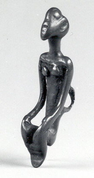 Pendant: Seated Figure, Brass, Dogon peoples