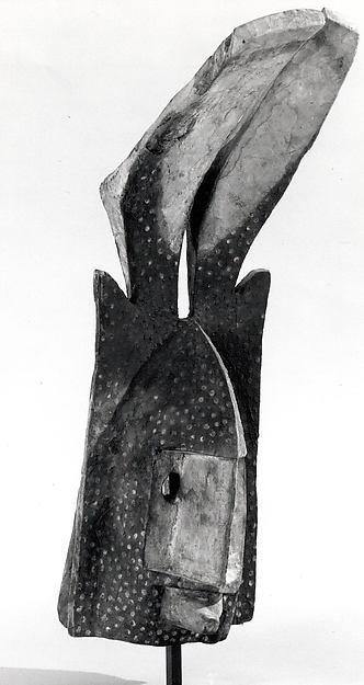 Mask: Antelope or Rhinoceros (Gomintogo), Wood, pigment, Dogon peoples
