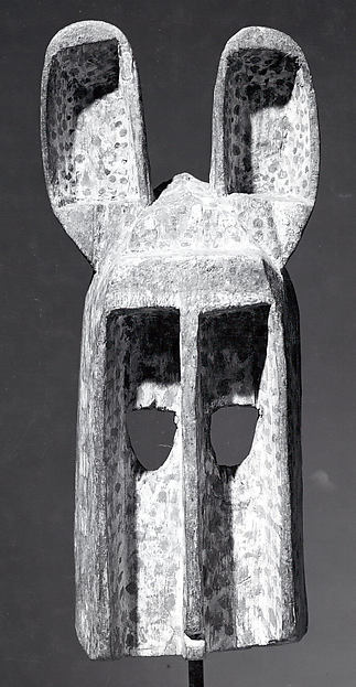 Mask: Rabbit (Dyommo), Wood, pigment, Dogon peoples