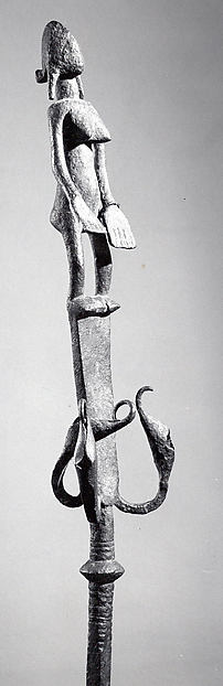 Staff: Female Figure, Iron, Bamana peoples