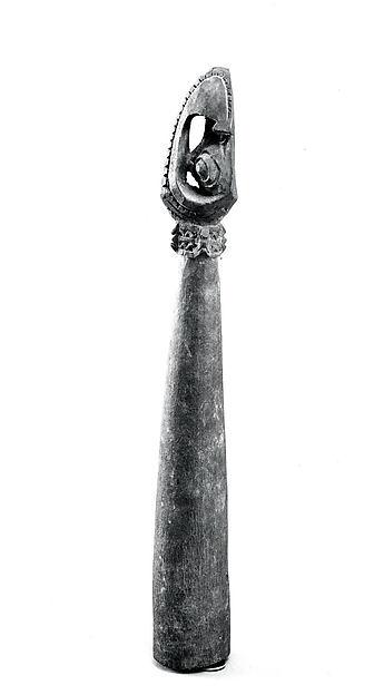 Slit Gong Beater, Wood, Bosmun (Bosngun) people
