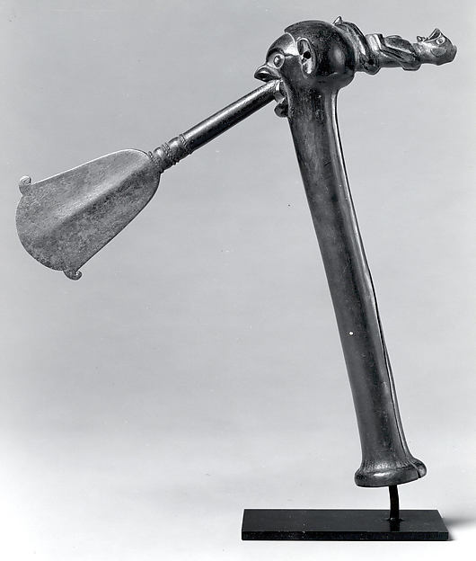 Ceremonial Axe (Khaandu), Iron, wood, Yaka peoples