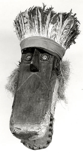 Mask (Dandaï), Wood, feathers, cotton, raffia, hide, metal, twine, pigment, Toma peoples