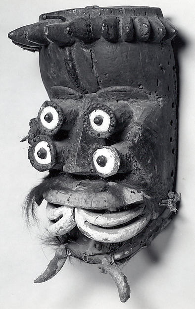 Mask, Wood, fur, ceramic, cloth, iron, cane, fiber, seeds, adhesive, pigment, Dan peoples