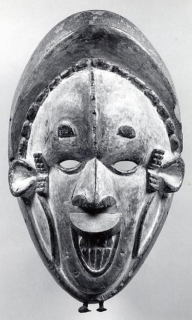 Mask (Okoroshi Oma), Wood, pigment, iron, Igbo peoples