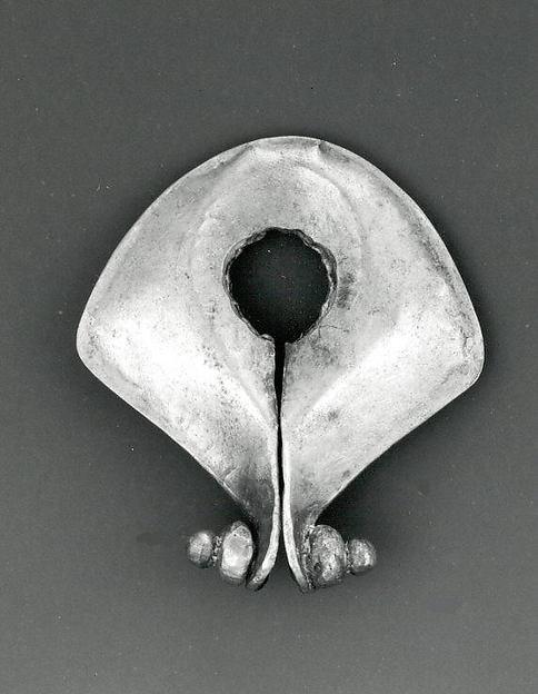 Ear Ornament or Pendant (Mamuli), Gold alloy, Sumba Island