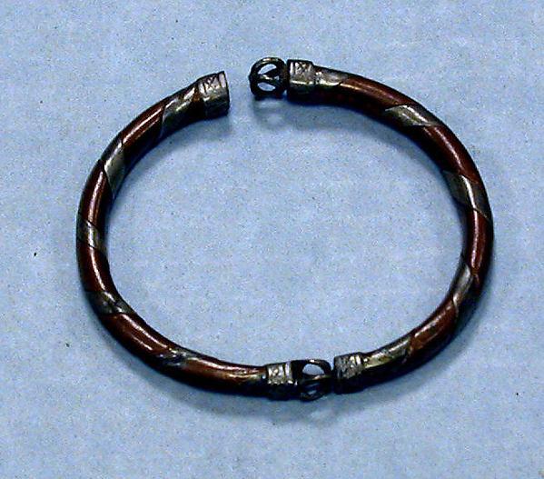 Bracelet, Copper, silver, zinc, Fon peoples