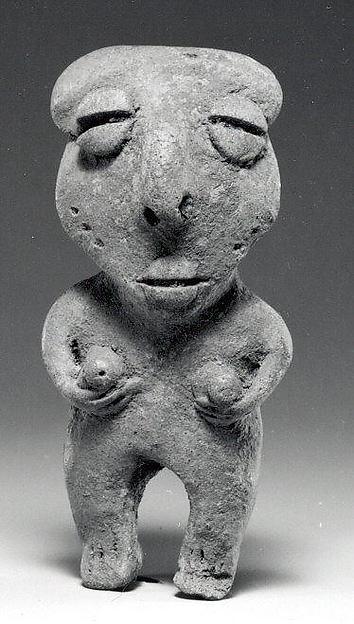 Female Figure, Ceramic, Esteros or Bahía