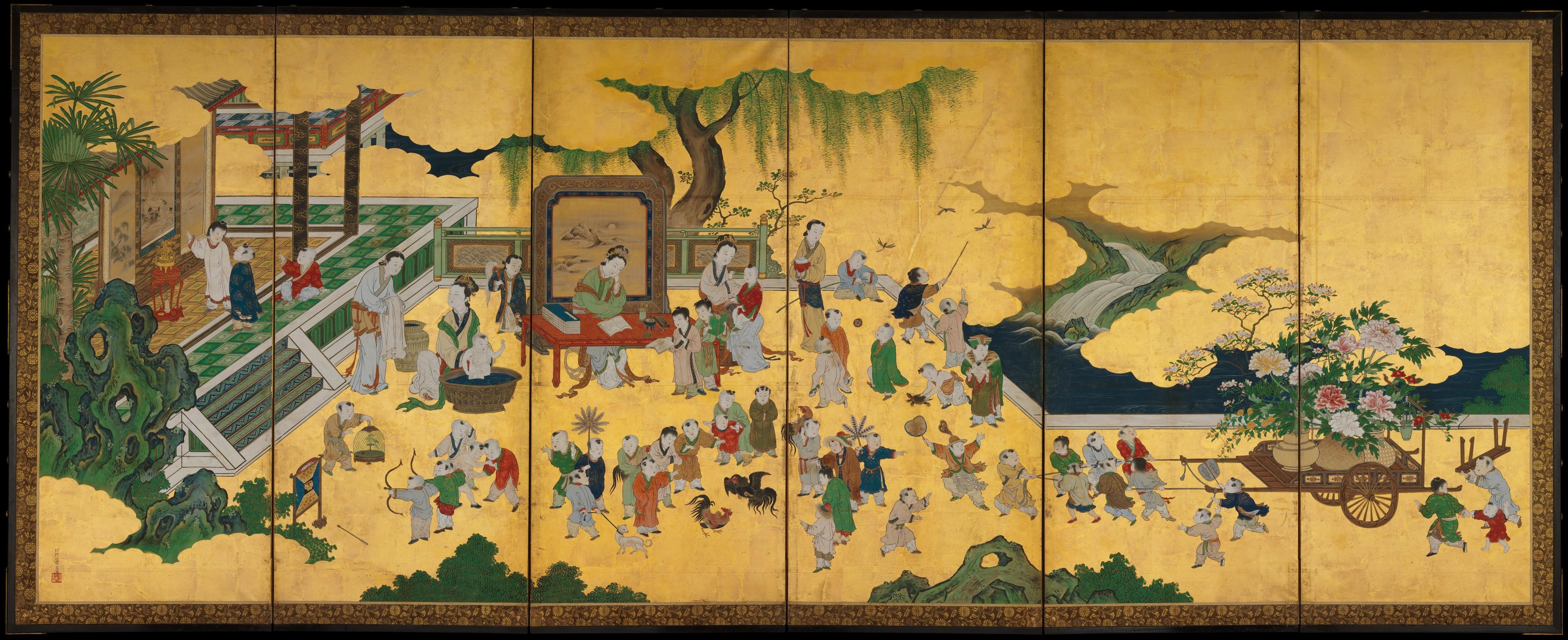 Kano Einō | One Hundred Boys | Japan | Edo period (1615–1868) | The Met