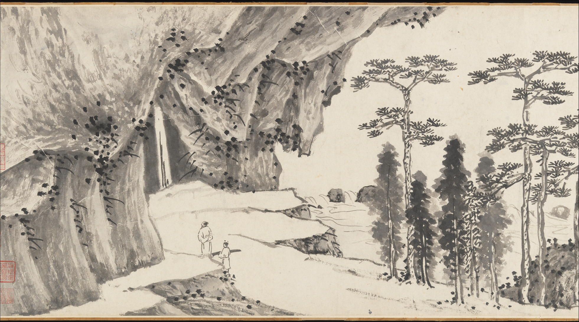 Shen Zhou Joint Landscape China Ming Dynasty 1368