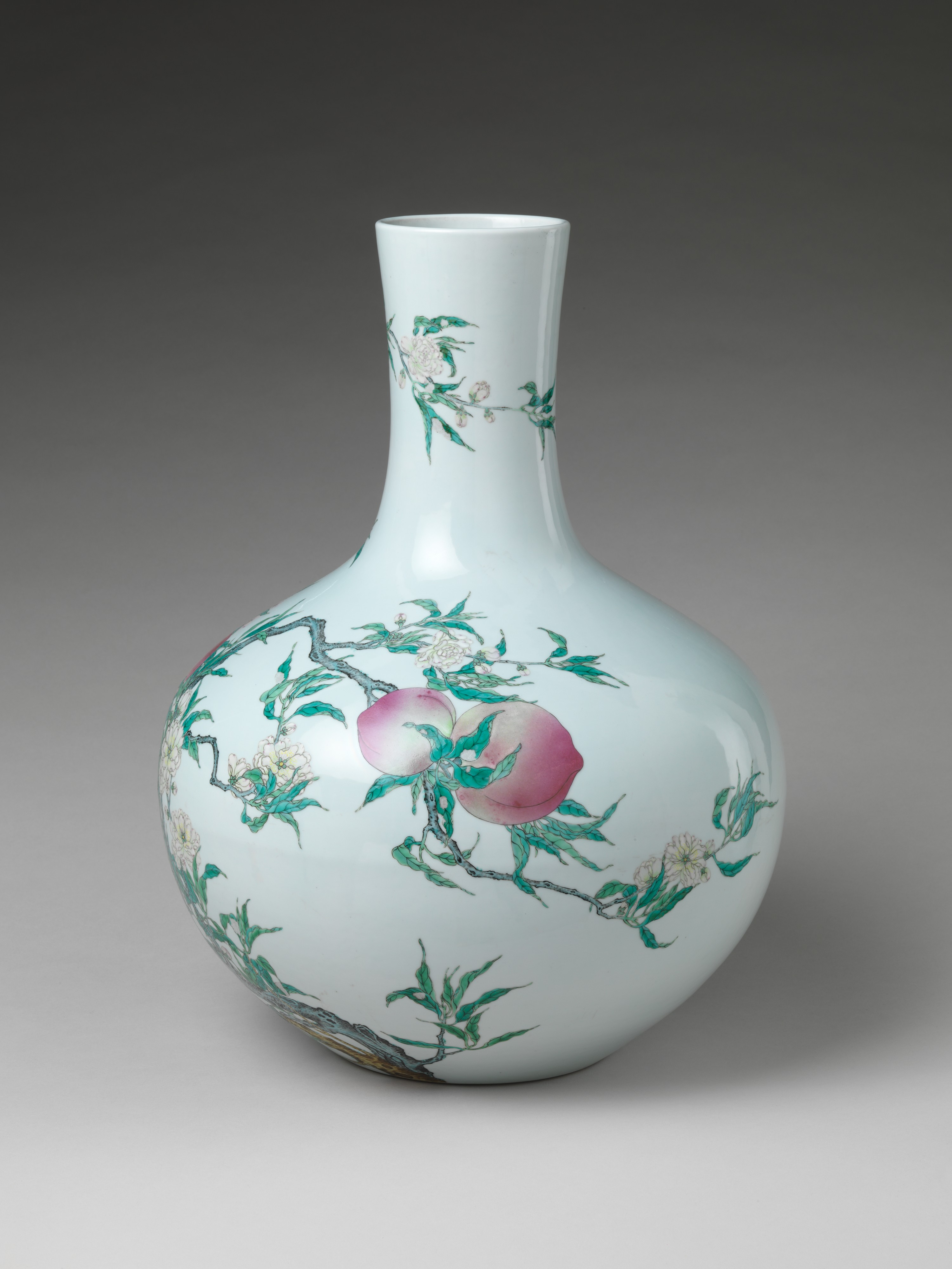 Vase with nine peaches china qing dynasty 16441911 share by email reviewsmspy