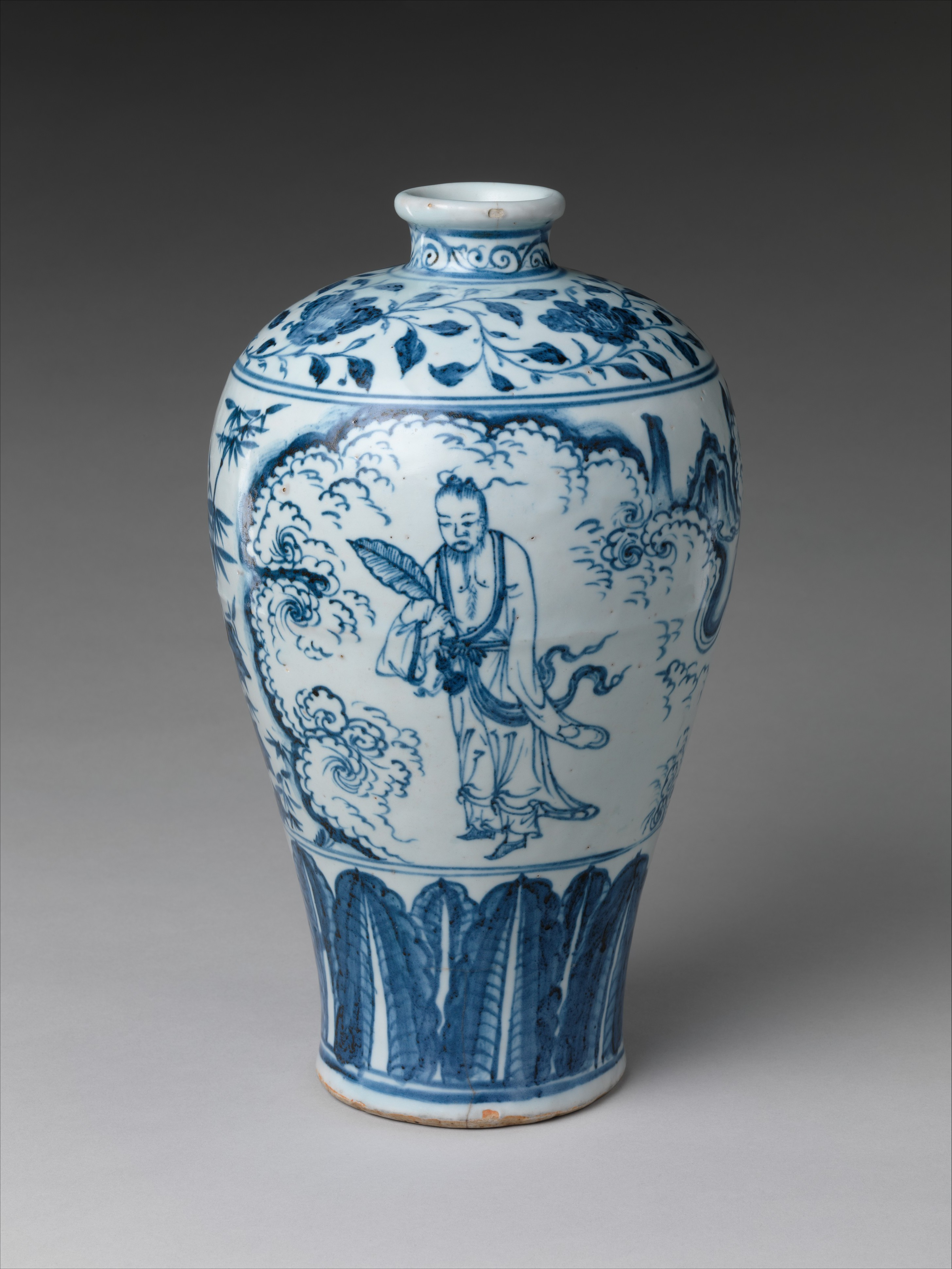 Vase china ming dynasty 13681644 xuande mark and period vase in meiping shape with daoist immortal zhongli quan reviewsmspy