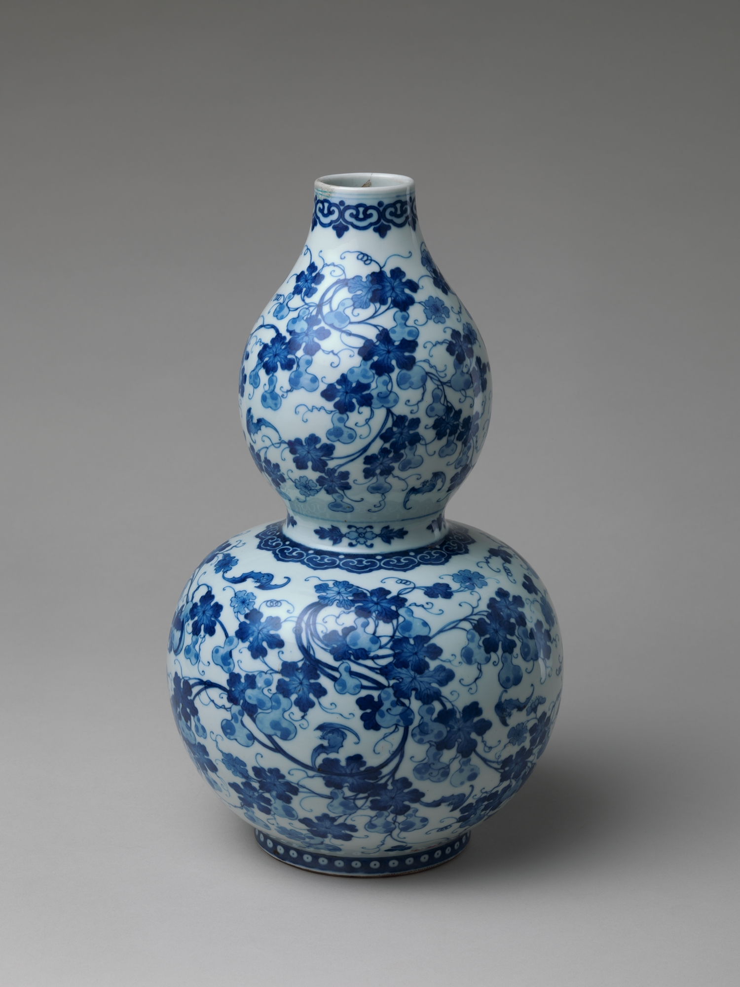 Gourd Shaped Vase With Design Of Gourds And Vines China
